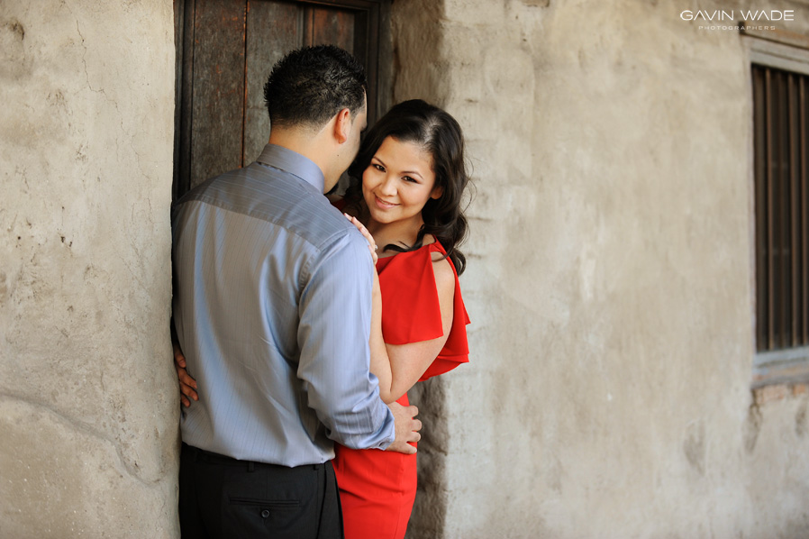 Engagement photos at the Mission in San Juan Capistrano, Engagement photography in Southern California