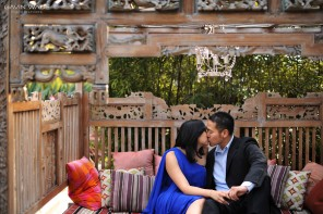 a romantic engagement session at the hotel maya