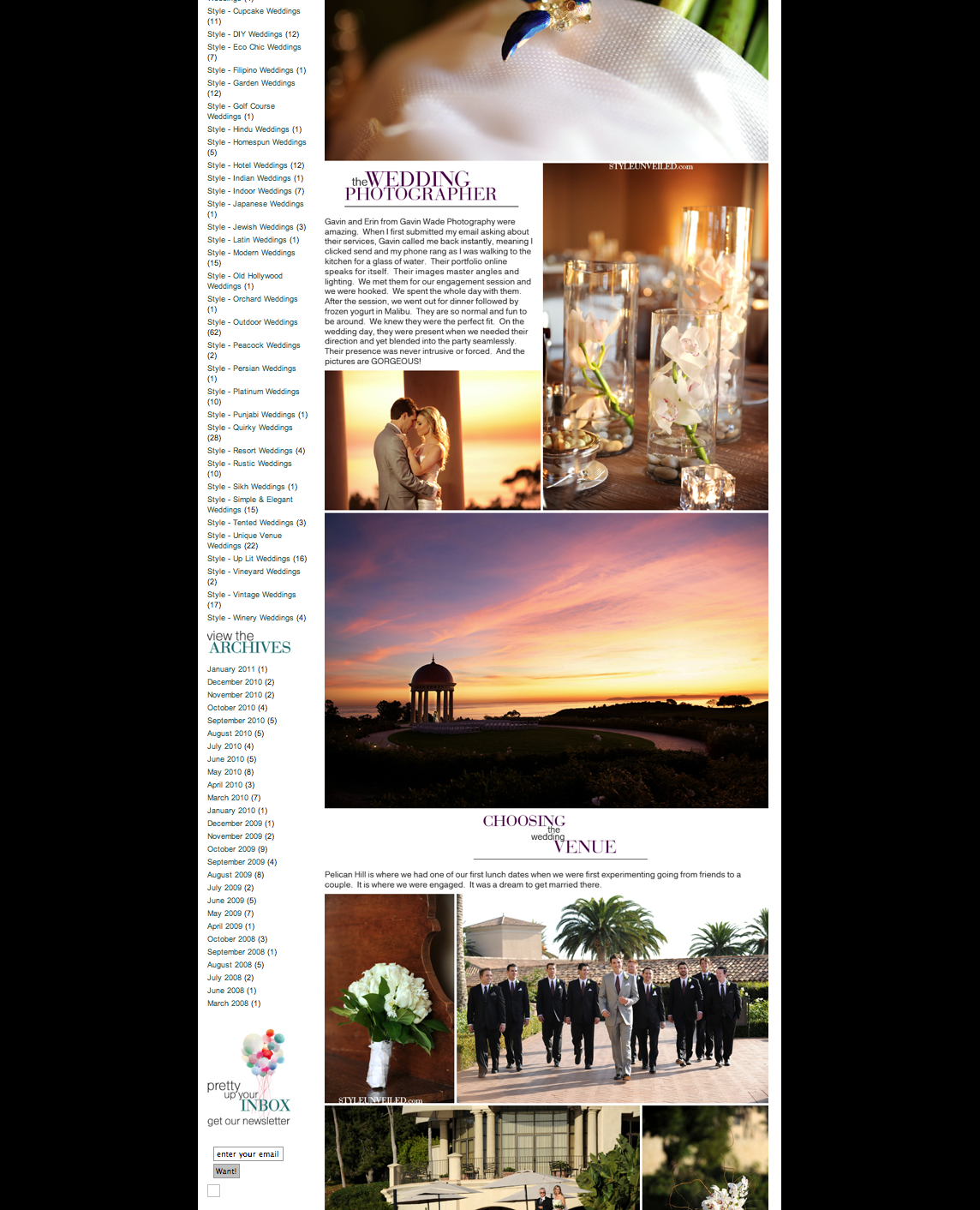featured wedding at Pelican Hill Resort in Newport Beach, gavin wade photographers