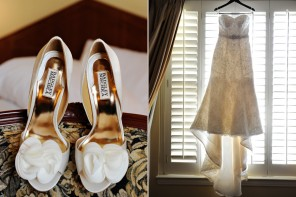 Badgley Mischka wedding shoes, Los Angeles wedding