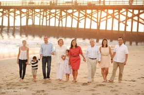 Seal beach family portrait photos