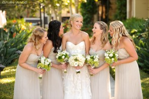 cream colored bridesmaid dress